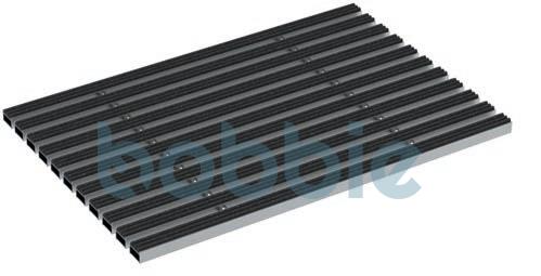 Anrin SELF komfort Schuhabstreiferkasten Abdeckrost aus Aluminium mit Nadelvlies