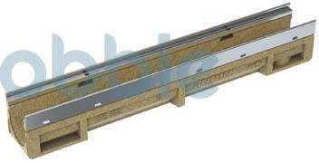 Kantenschutzrinnen KE-100  mit Edelstahlzarge