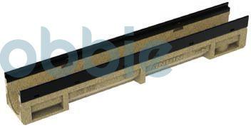 Kantenschutzrinnen KE-100  mit KTL-beschichteter, schwarzer Stahlzarge