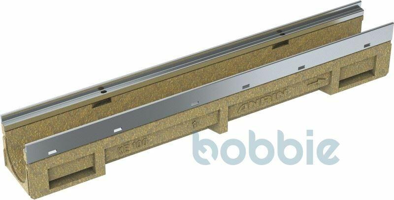Kantenschutzrinne KE-100 mit verzinkter Stahlzarge standard