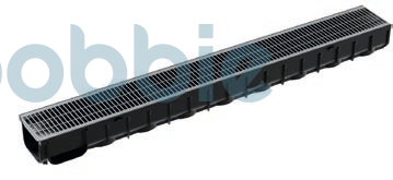 Kunststoffrinnen  Rinnen NW 100 aus schwarzem Kunststoff PP (Polypropylen)