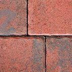 Altländer Hofpflaster® Normalstein Rot/Schwarz Nuanciert 21/24 - 208 x 138 x 60