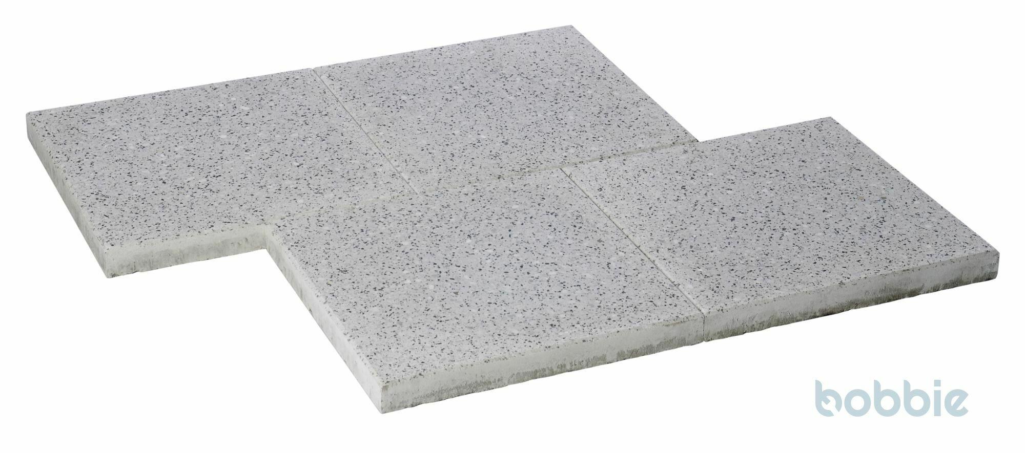 DIEPHAUS Terrassenplatte OPTIMA GRANIT-WEIß 40/40/4 CM