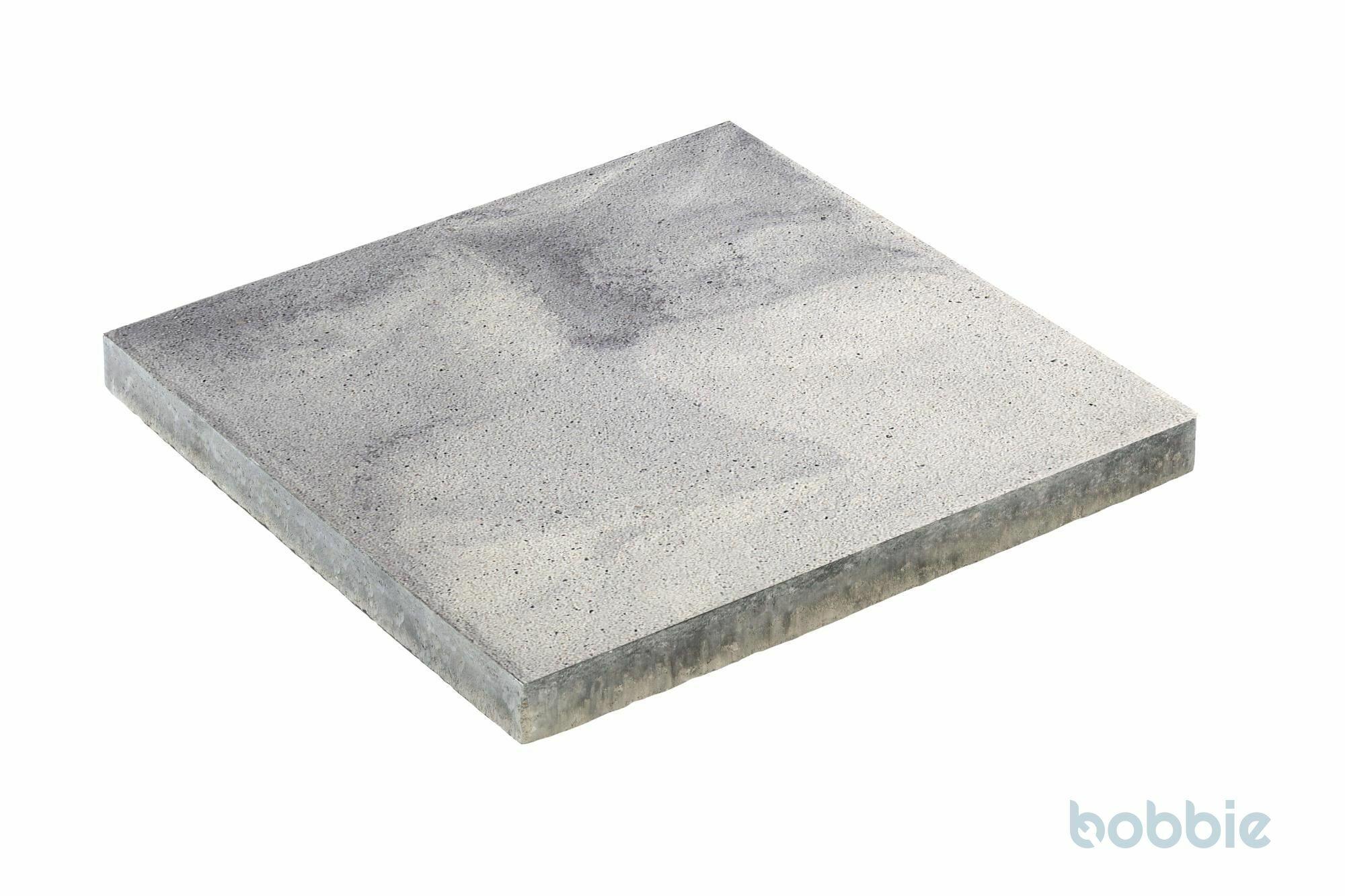 DIEPHAUS Terrassenplatte RUSTICA WEIß-SCHWARZ GEFL. 40/40/4 CM