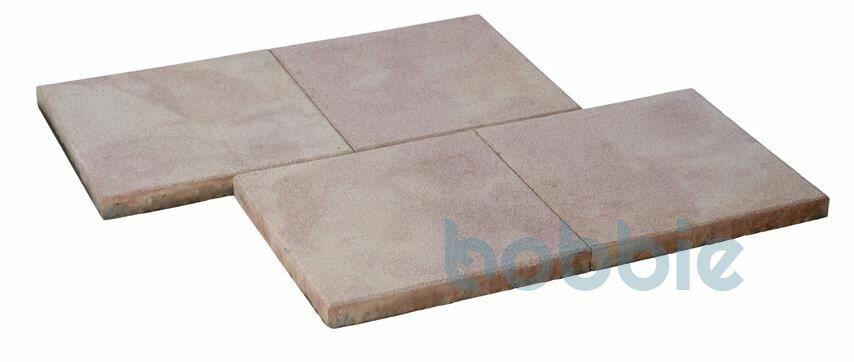 DIEPHAUS Terrassenplatte RUSTICA OCKER-GELB-ROSE 40/40/4 CM