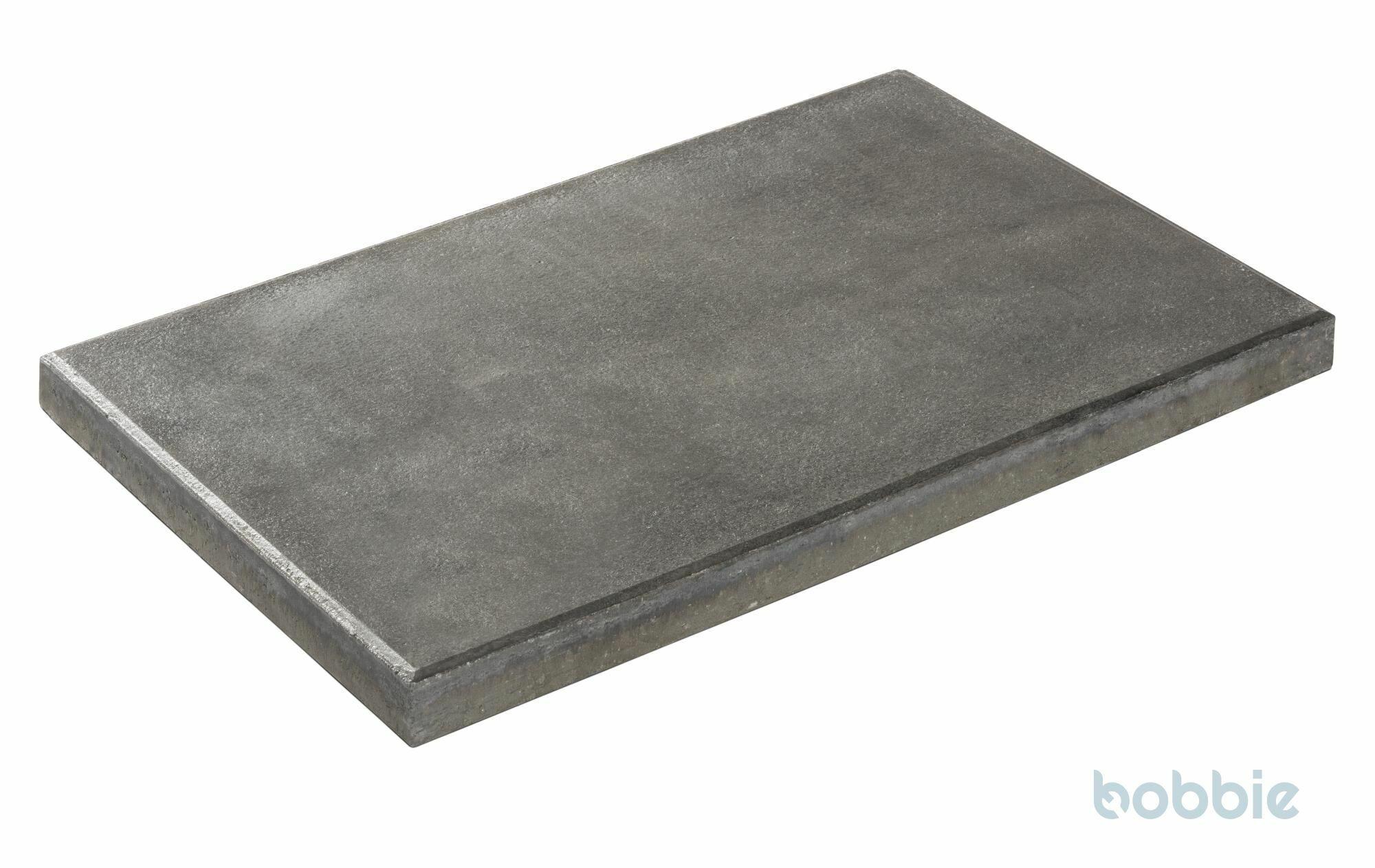 DIEPHAUS Terrassenplatte RUSTICA GRAU-SCHWARZ 60/40/4 CM
