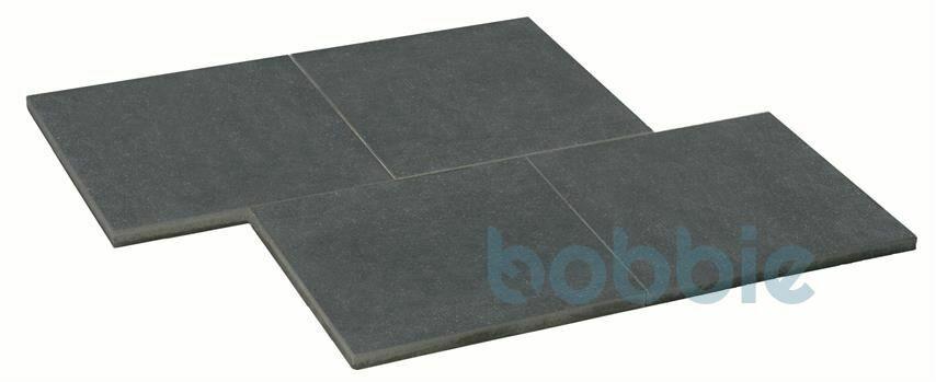 DIEPHAUS Terrassenplatte VIA BASALT M. GLIMMER 80/80/5CM M.F.PE2