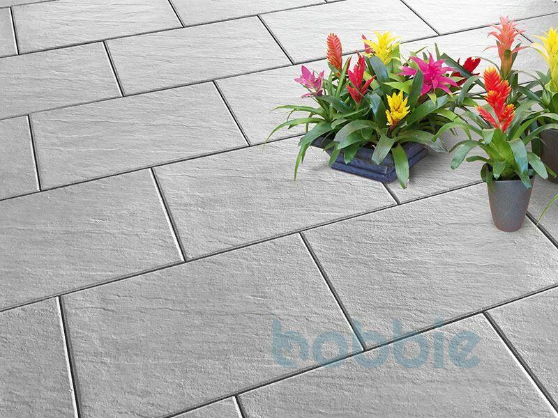 DIEPHAUS Terrassenplatte SCIVO MITTELGRAU 60/40/4 CM PE5