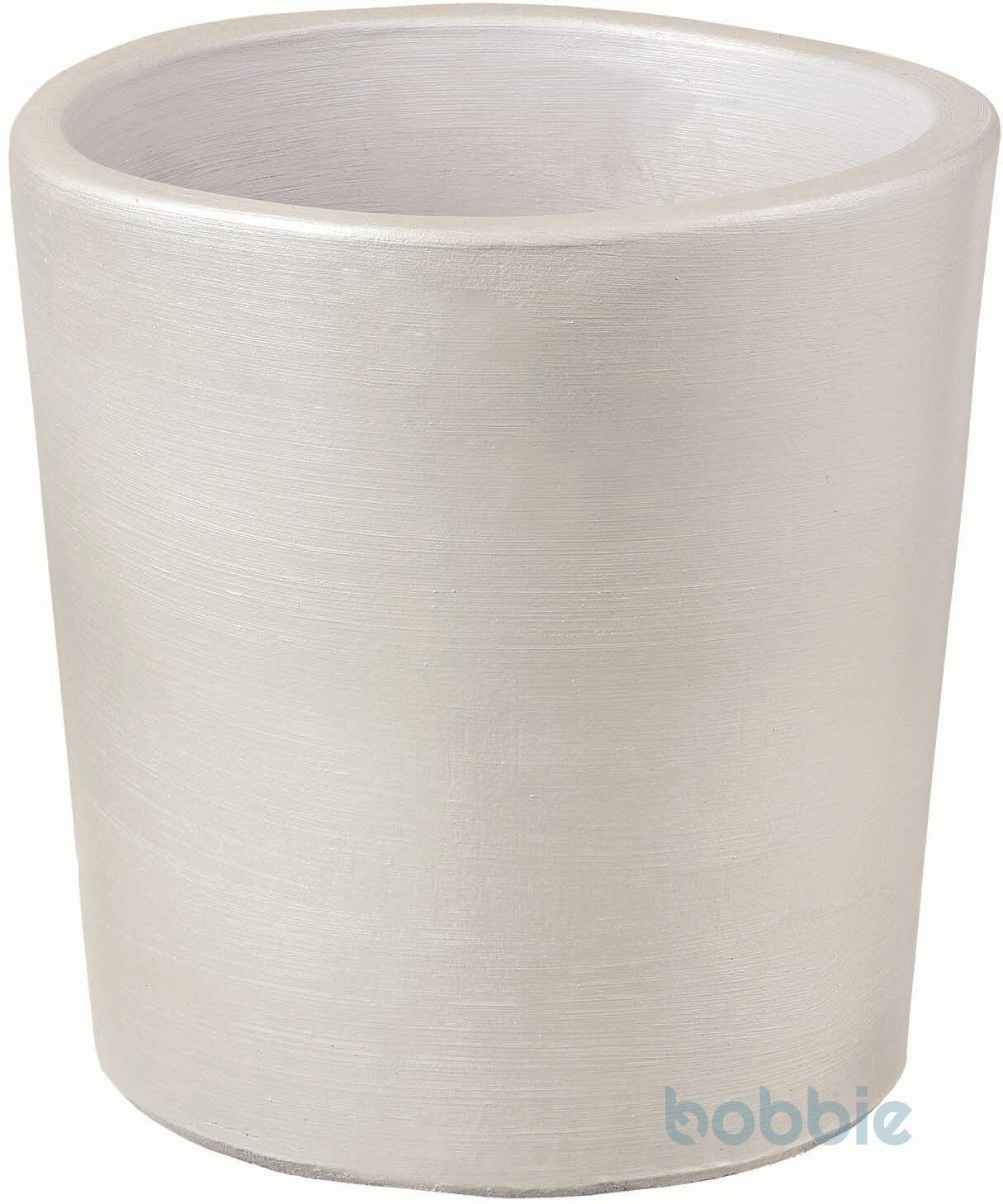 Blumentopf runde Vase modern - VASO ROTONDO MODERNE CM.35 - PREMIUM LIFE - WHITE