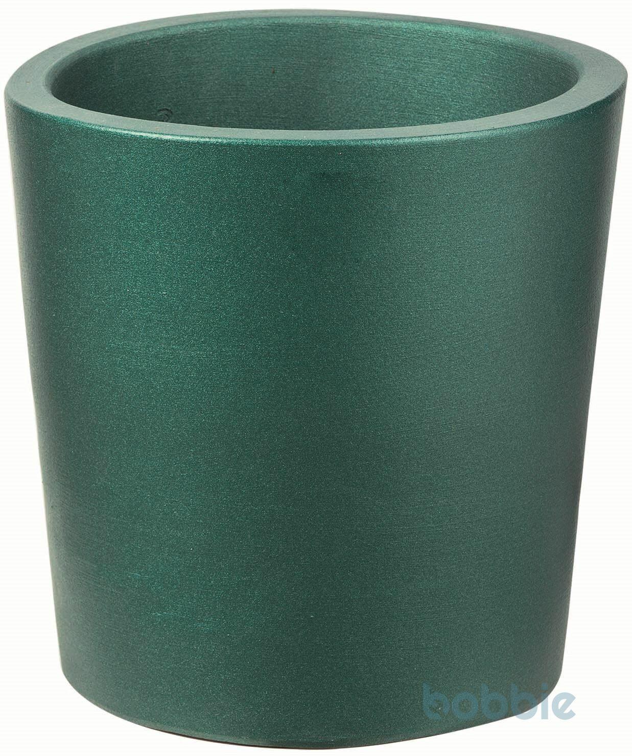 Blumentopf runde Vase modern - VASO ROTONDO MODERNE CM.40 - PREMIUM LIFE - EMERALD