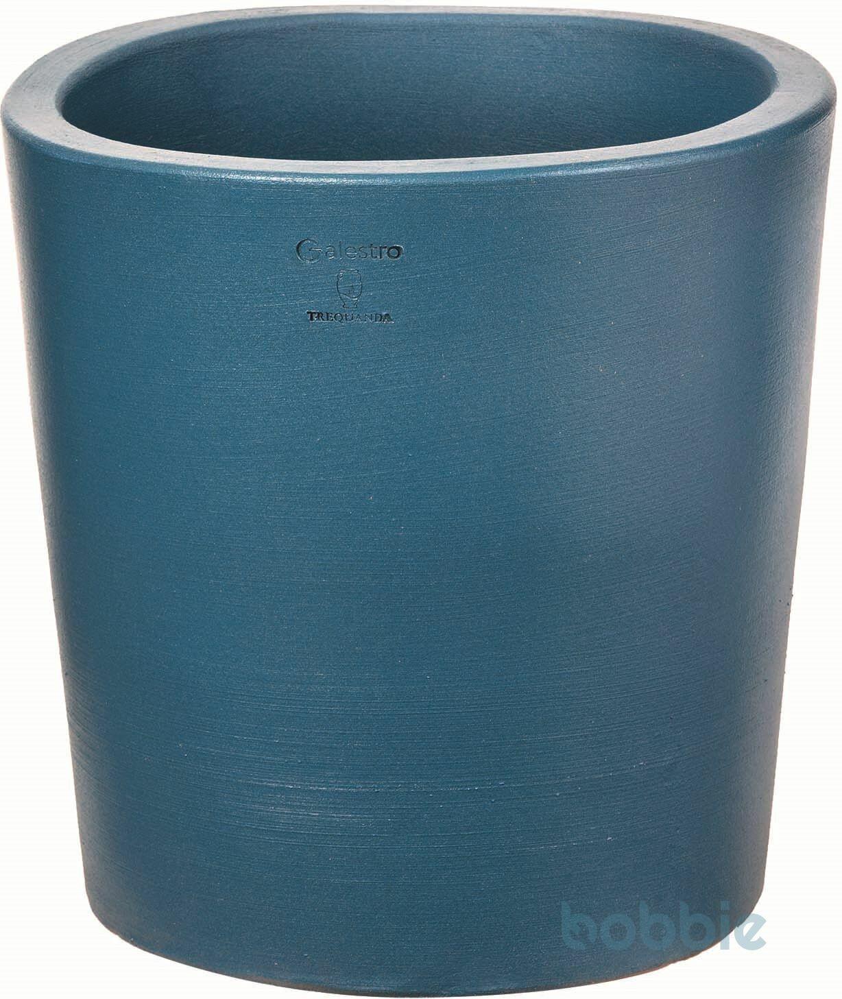 Blumentopf runde Vase modern - VASO ROTONDO MODERNE CM.40 - PREMIUM LIFE - SKY