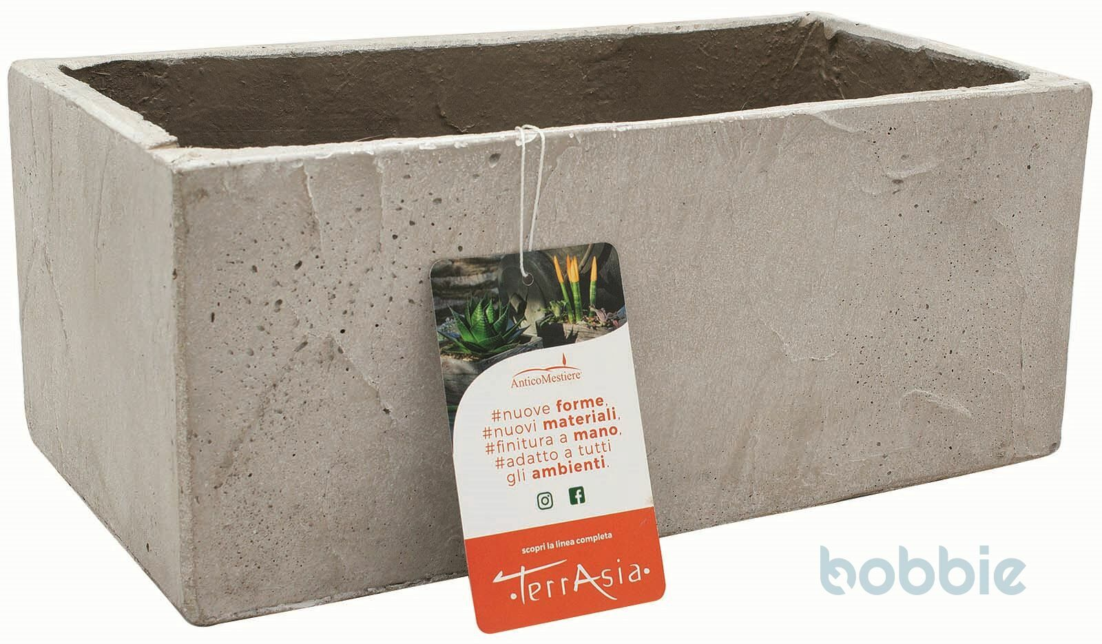 Blumenkasten Steatit - CASSETTA STEATITE - HELLGRAU
