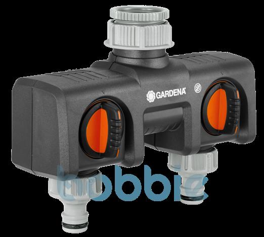 GARDENA 2-Wege-Verteiler für 26.5mm/21mm (G 3/4+G 1/2) Wasserhahn