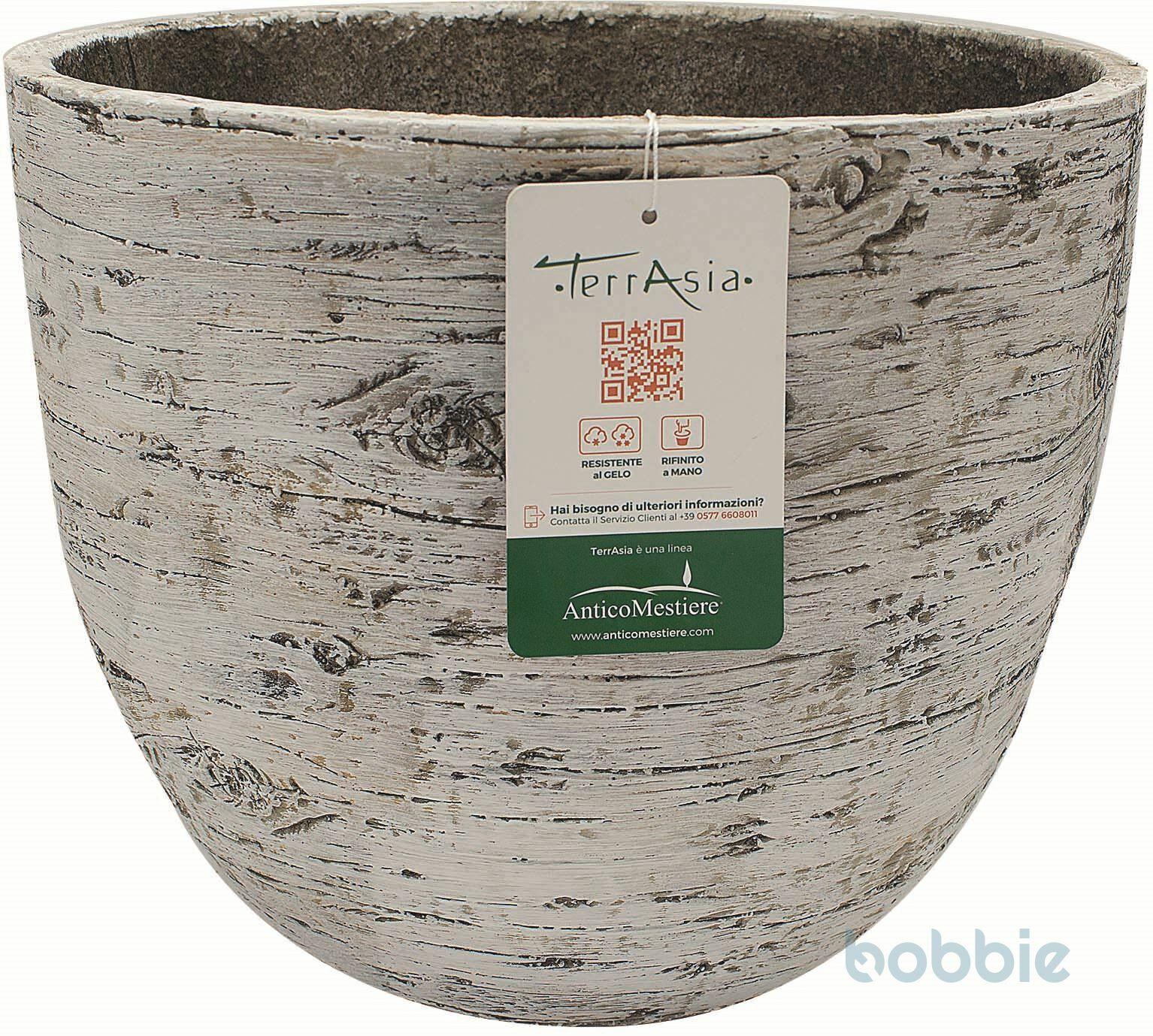 Blumentopf Vase Holz - VASO WOOD CM.35 - WEIß