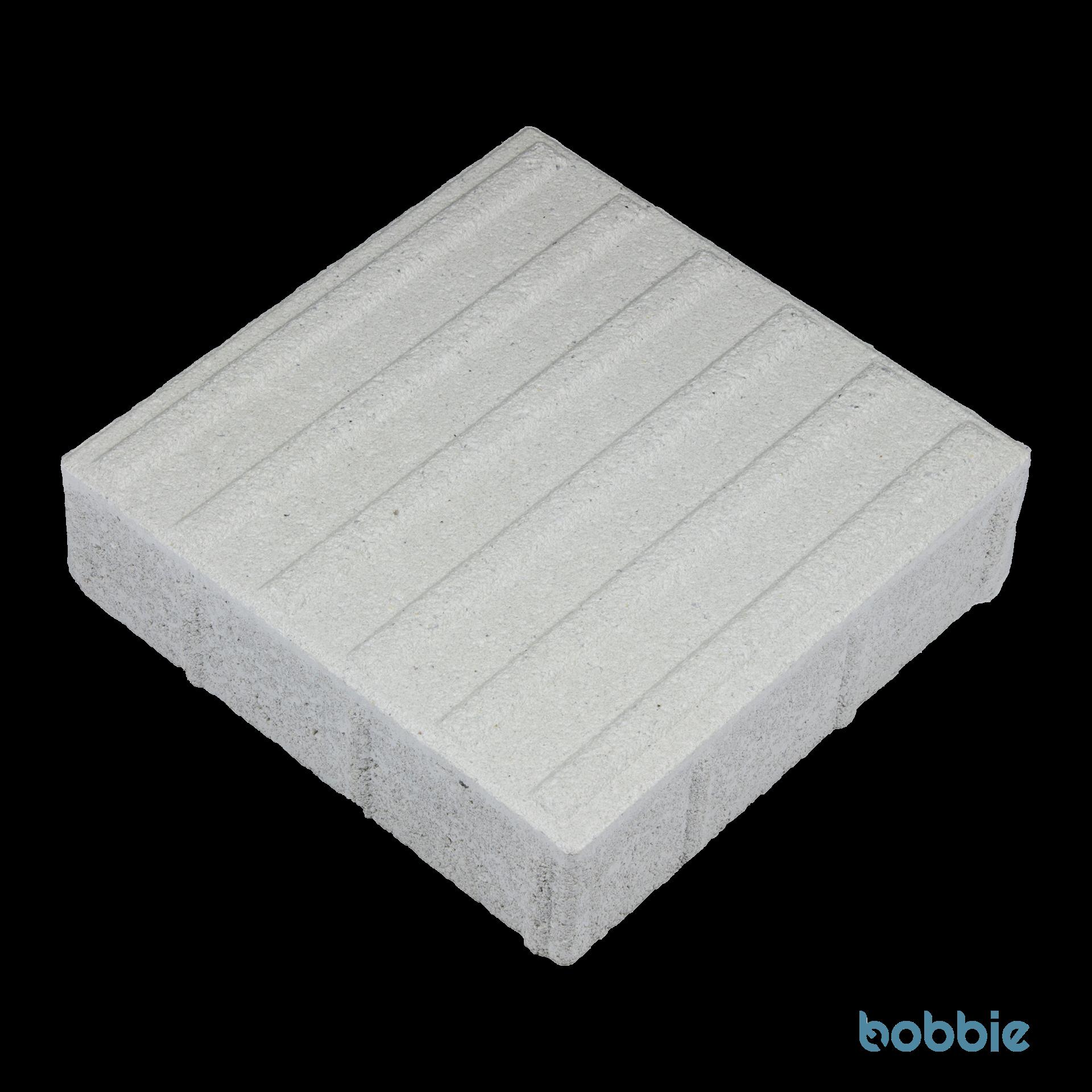 EASYCROSS DTE700 Weiß Rippenplatte 300 x 300 x 80 mm Typ 2