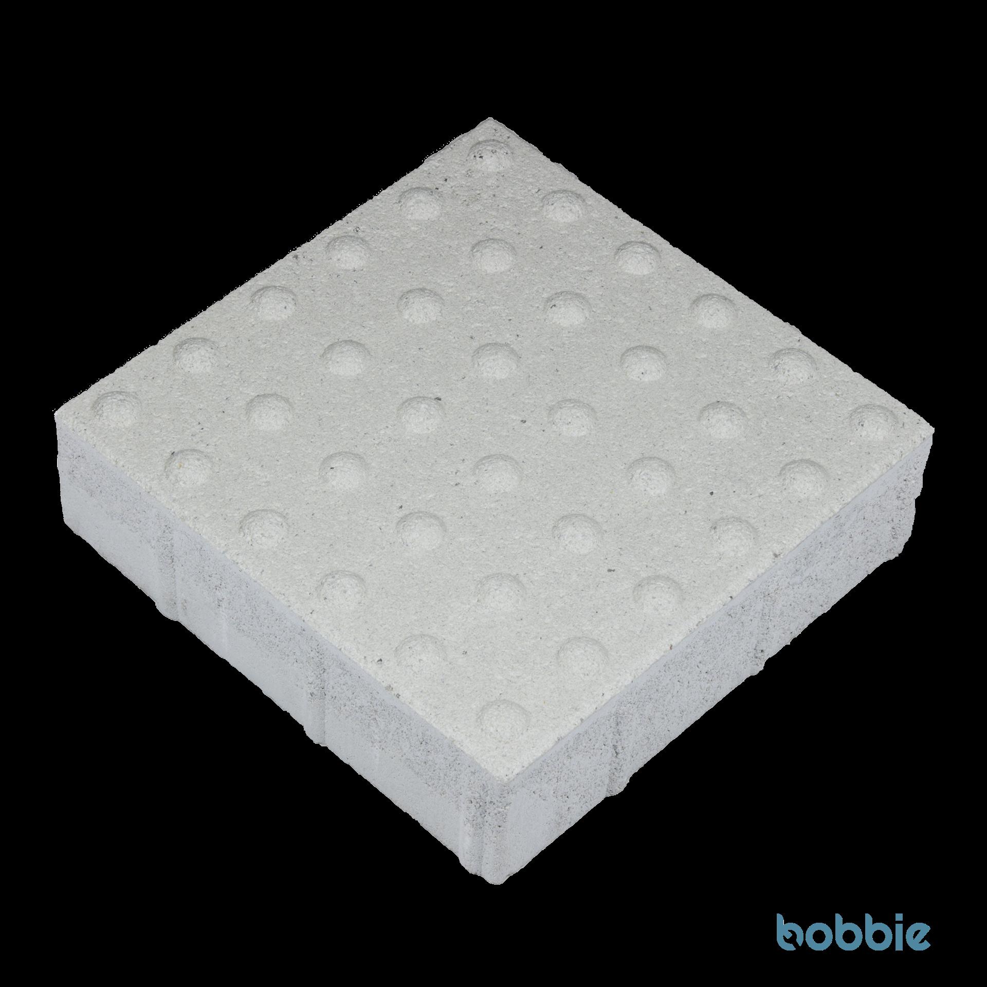 EASYCROSS DTE700 Weiß Noppenplatte 300 x 300 x 80 mm Kugelkalotte orthogonal