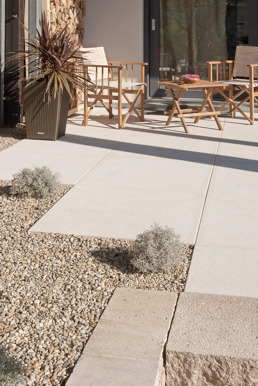 Terrassenplatte NUEVA light ferro DTE100 Sandstein-Uni 800 x 400 x 50 mm