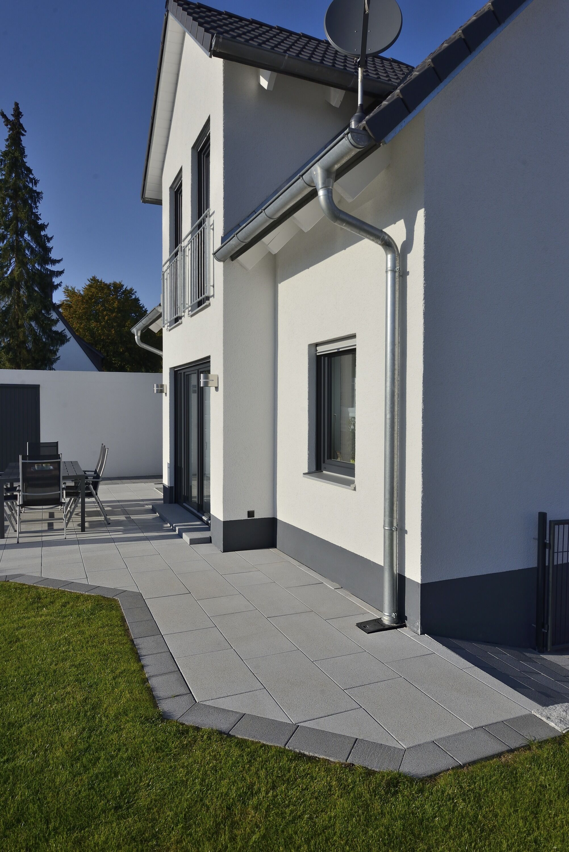 Terrassenplatte NUEVA light ferro DTE100 Grau-Uni 400 x 400 x 50 mm