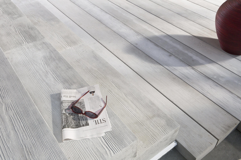 MASSIMO Dielenstufe Sichtbeton Grau gekalkt 1000 x 350 x 150 mm