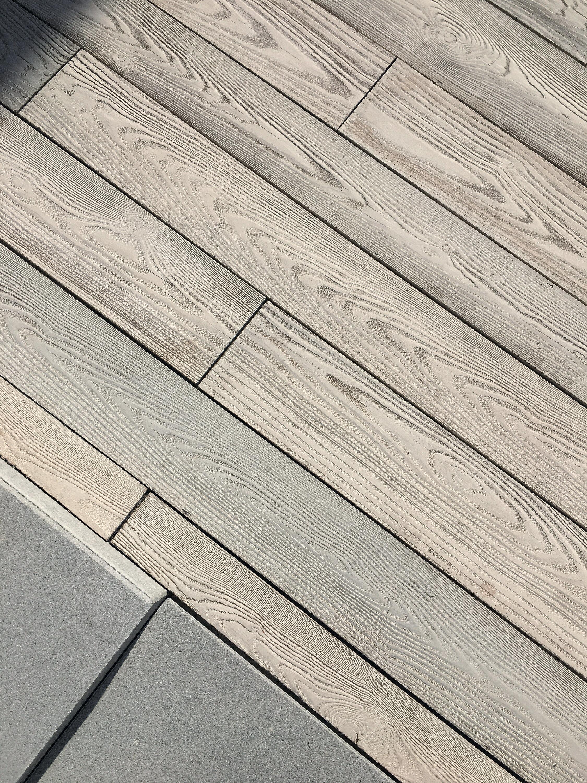 Terrassenplatte MASSIMO Diele Sichtbeton Beige gekalkt 2500 x 220 x 80 mm