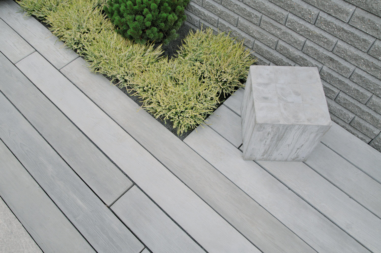 Terrassenplatte MASSIMO Diele Sichtbeton Grau gekalkt 2500 x 200 x 80 mm