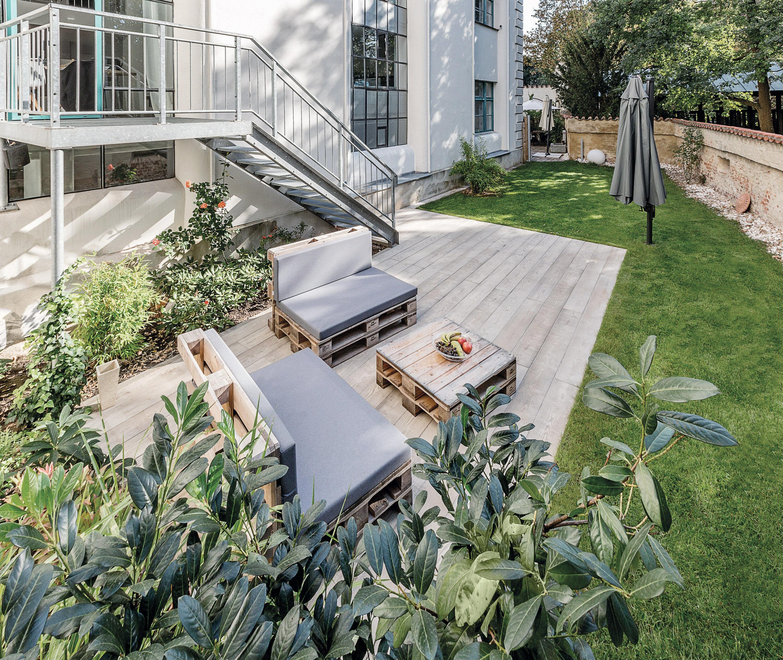 Terrassenplatte MASSIMO Diele Sichtbeton Beige gekalkt 2500 x 200 x 80 mm