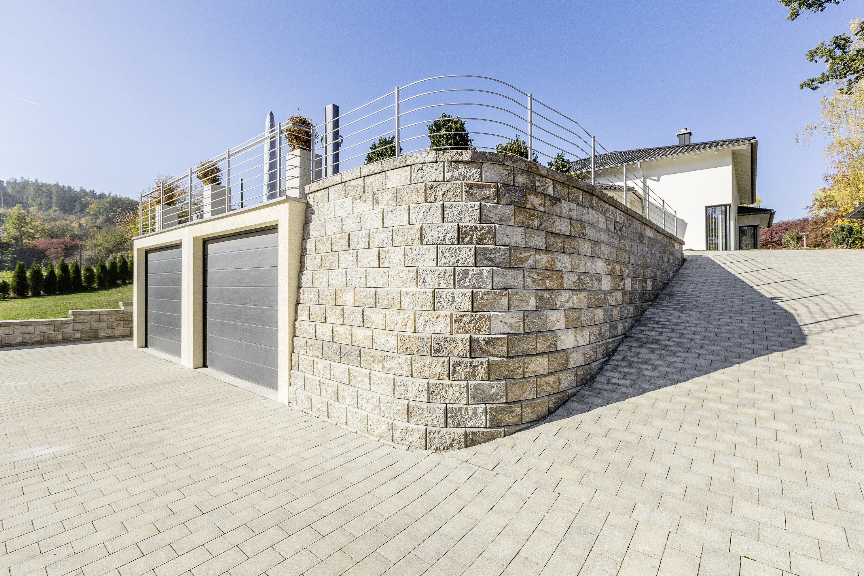 Stützwandsystem ALLAN BLOCK Grau Normalstein 84° 330 x 300 x 200 mm