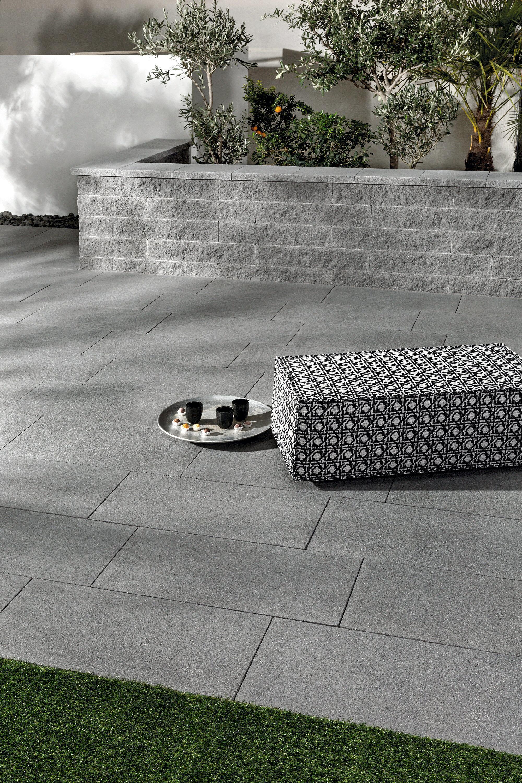Gartenmauer NOVOLINE linear DTE100 Grau Abdeckstein mit Tropfnase beids. längs 400 x 320 x 45 mm