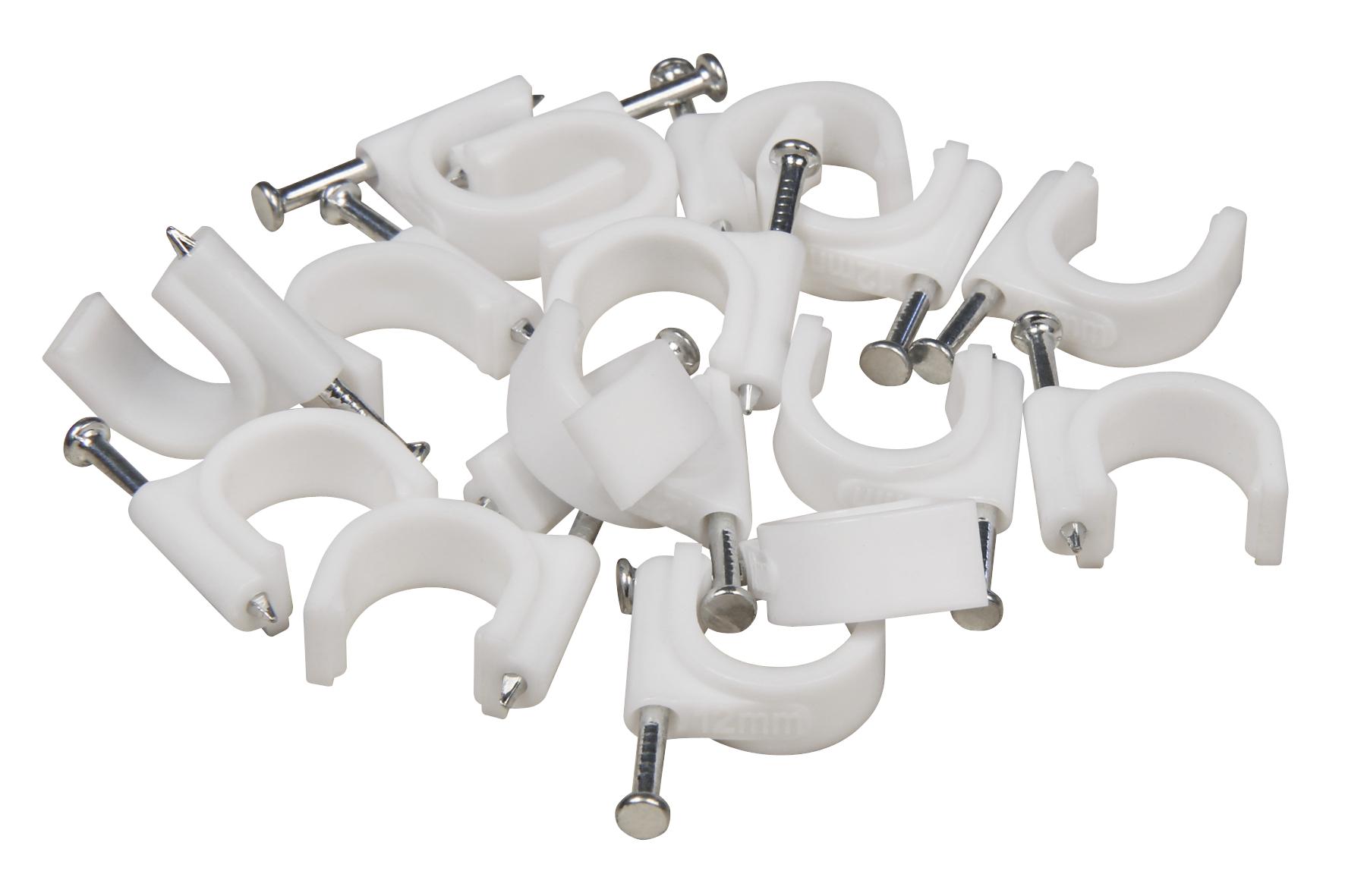 Kabelschelle McPower, 12mm, 100er-Pack, weiß