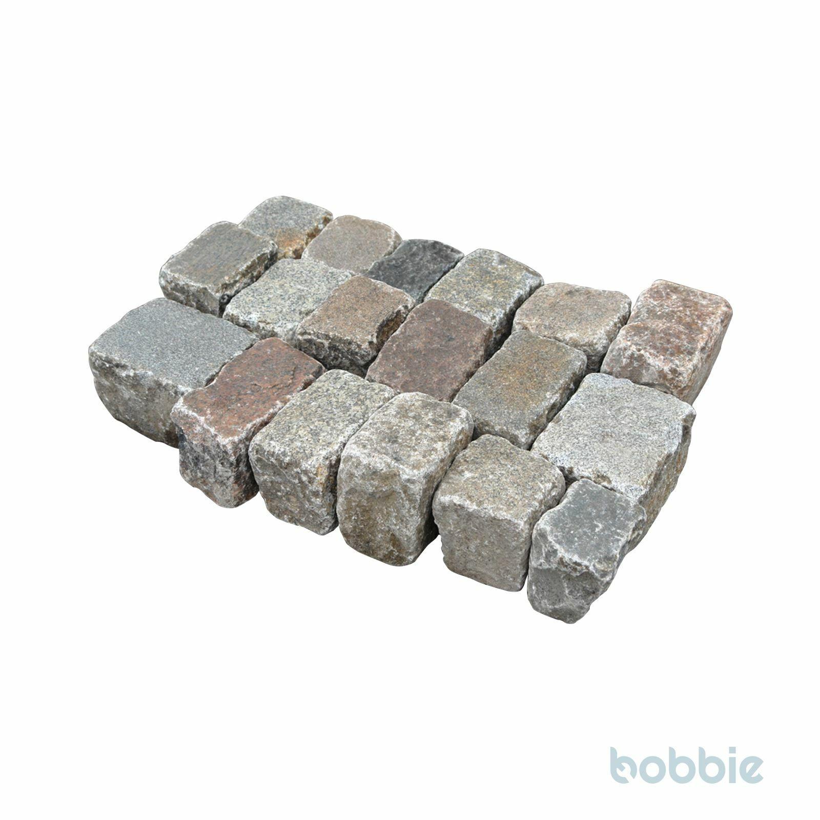 """Granit-Reihensteine, """"Hamburger"""", bunt, gebraucht, ca. 13-15x15-21x16-18 cm"""