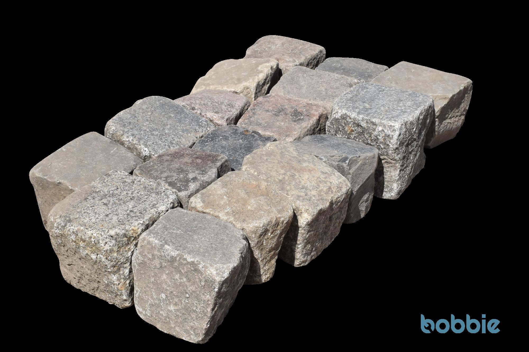 Naturstein-Kleinpflaster 8/11 cm, bunt, gebraucht