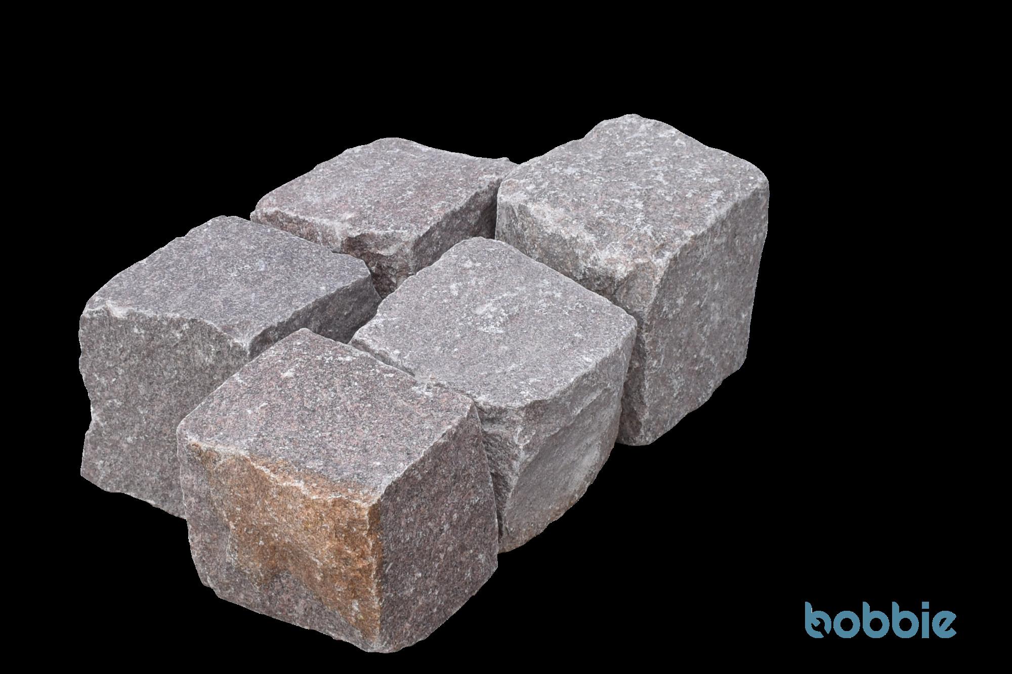 "Granit-Pflaster ""Manga-rötlich"""