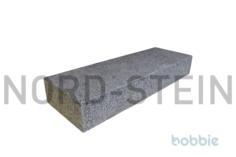 "Granit-Blockstufen, ""Gallicia-hellgrau"""