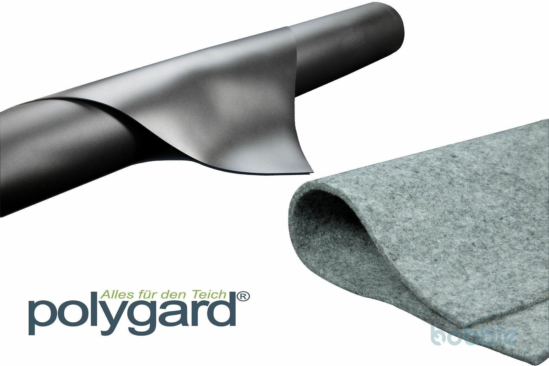 Polygard PVC Teichfolie 1mm schwarz inkl. Vlies 500g/m²