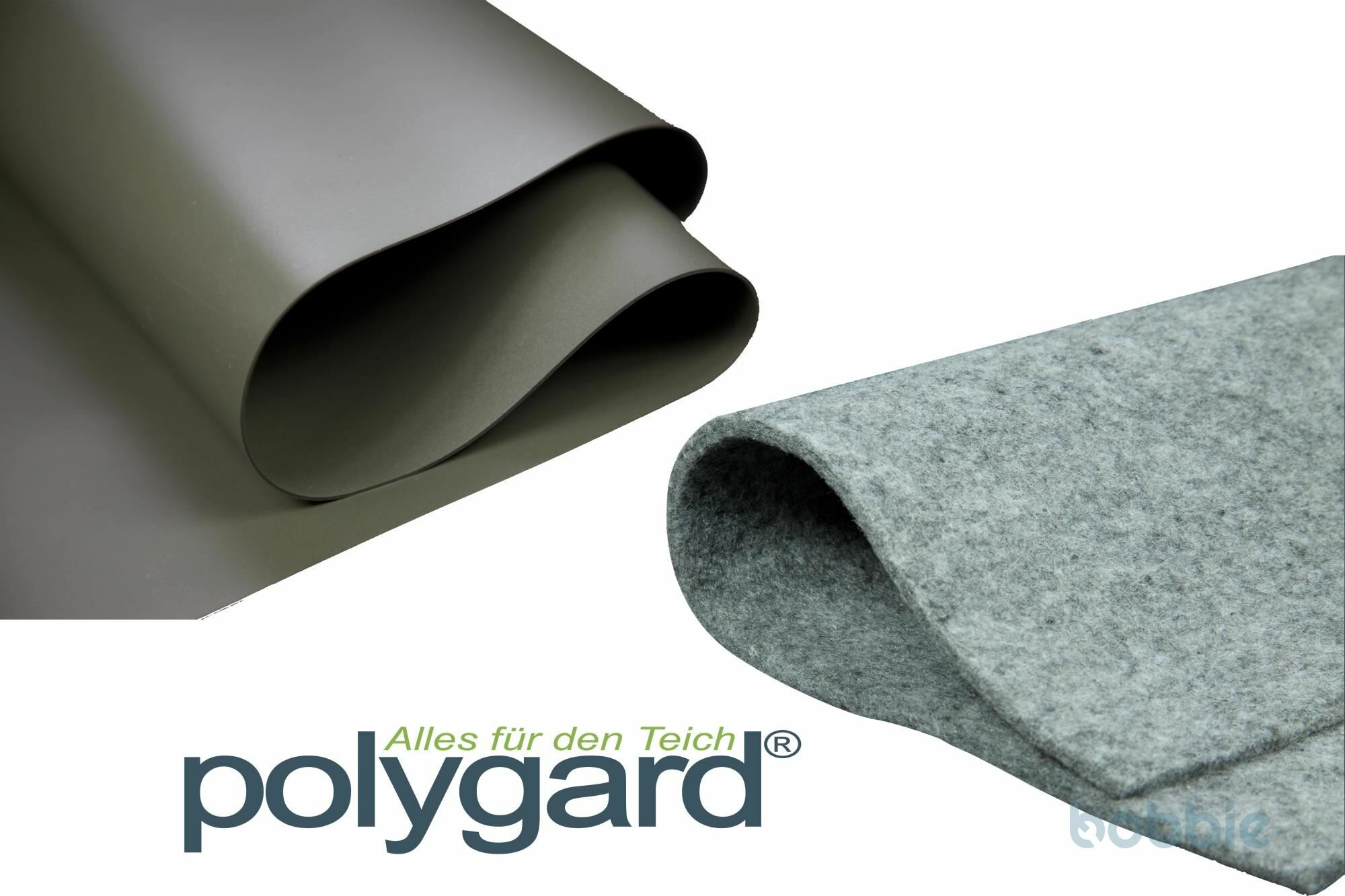 Polygard PVC Teichfolie 1,5mm oliv-grün inkl. Vlies 500g/m²