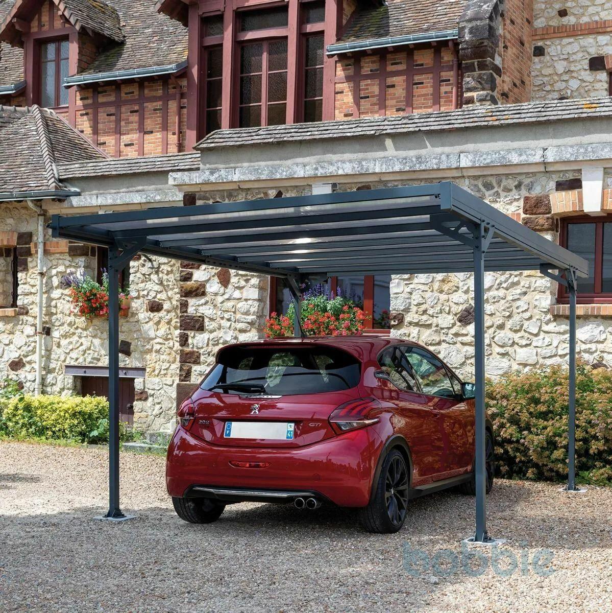 Trigano Carport Mistral 14.8m² aus Aluminium
