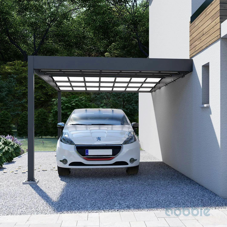 Trigano Carport Libeccio Wall 16.24m² aus Aluminium