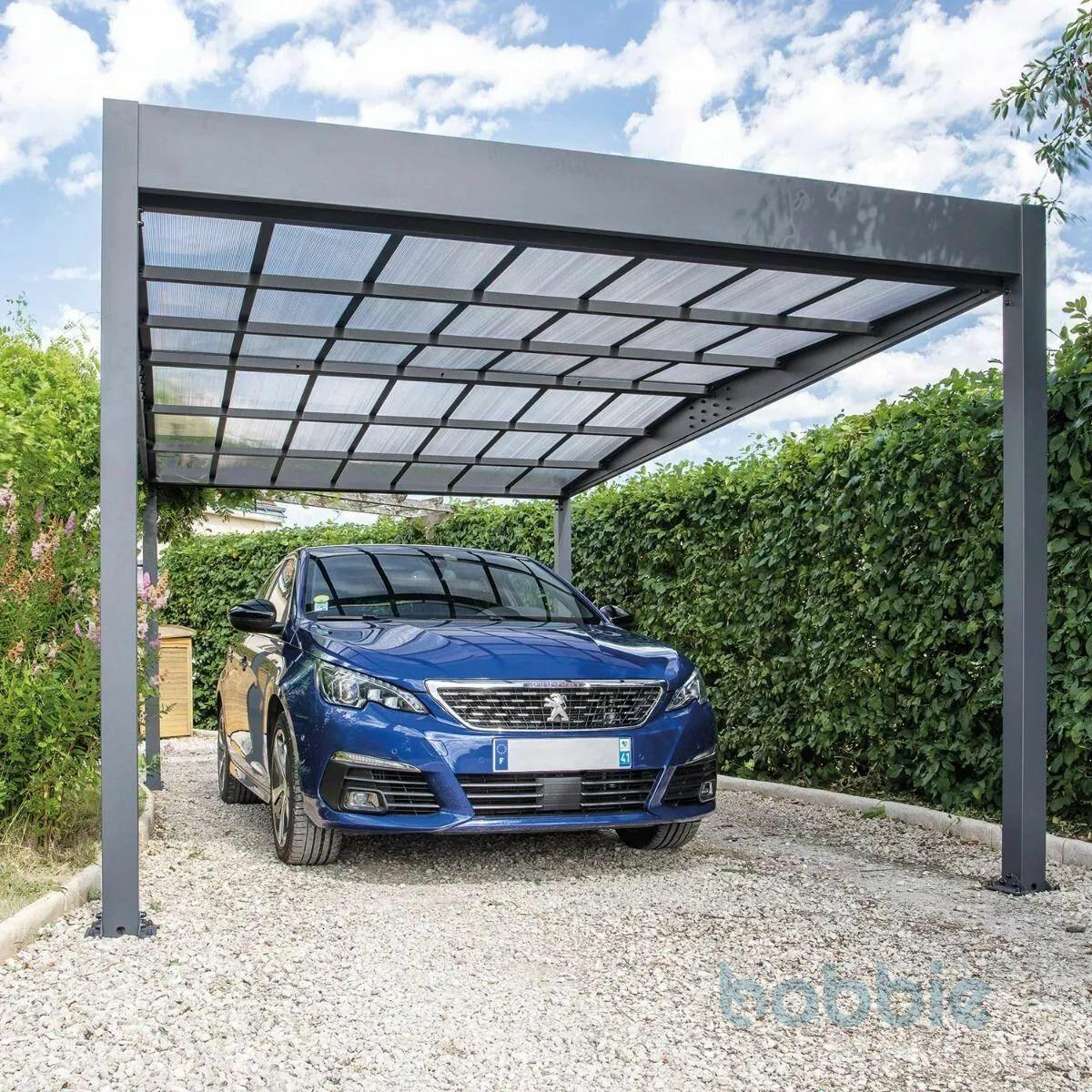 Trigano Carport Libeccio 16.6m² aus Aluminium inkl. 3 Panels