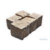 Granit-Großpflaster 15/17 cm,