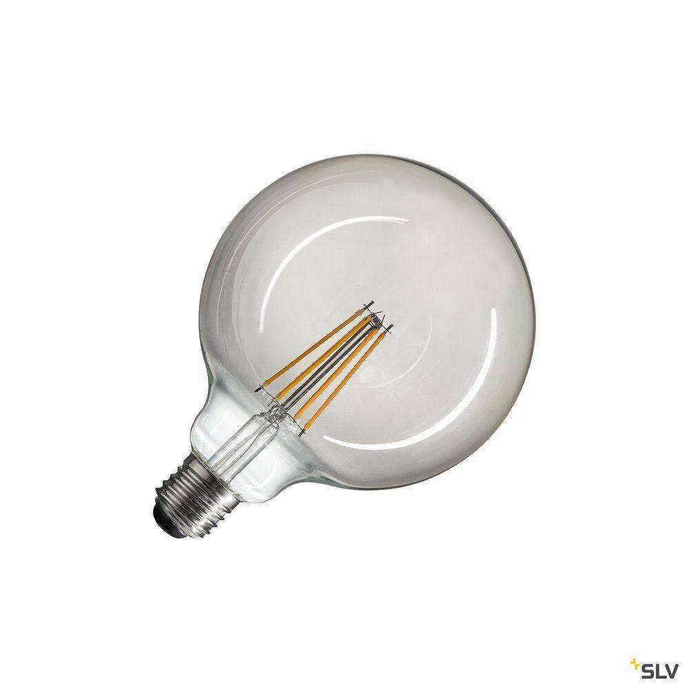 LED Leuchtmittel, G125, E27, 2700K, 440lm, 280°, dimmbar, Rauchglas