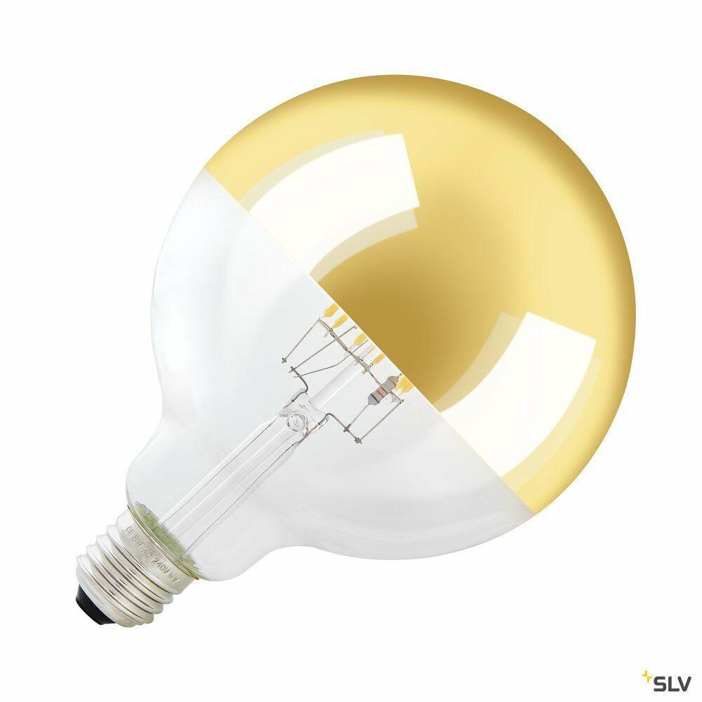 LED Leuchtmittel Spiegelkopf, G125, E27, 2000K - 2900K, 400lm, 280°, dimmbar, gold