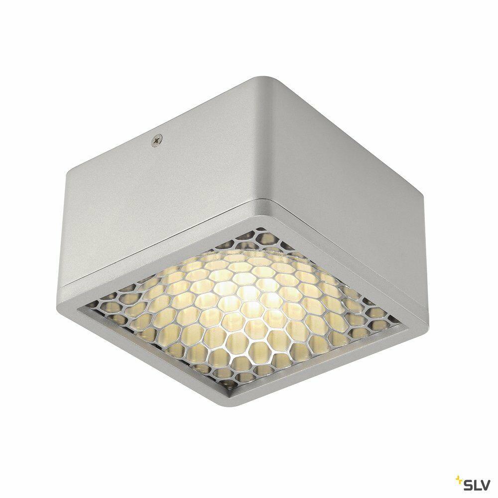 SKALUX COMB, Deckenleuchte, LED, 3000K, eckig, silbergrau, 18,7W