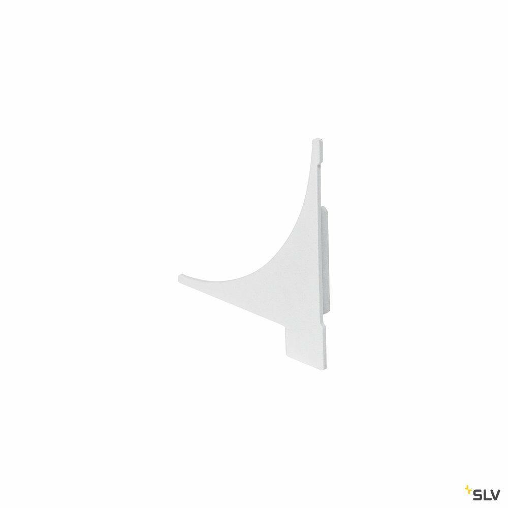 ENDKAPPEN, für GLENOS Regal-Profil, 2 Stück, weiß matt