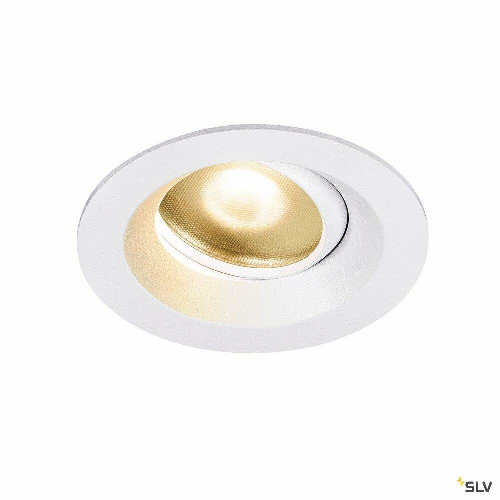 DINGILO, Indoor LED Deckeneinbauleuchte weiß 2700K schwenkbar