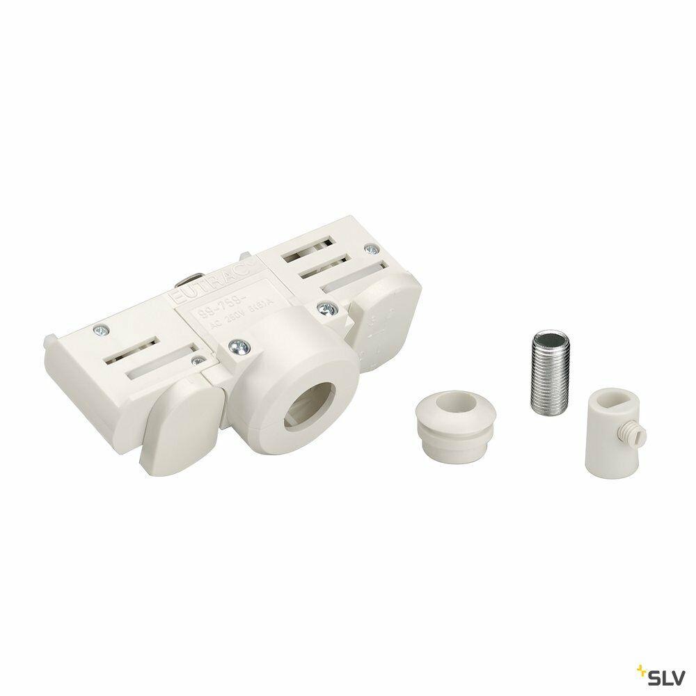PENDELLEUCHTENADAPTER, für Hochvolt-Stromschiene 3Phasen, weiß, inkl. Montagezubehör