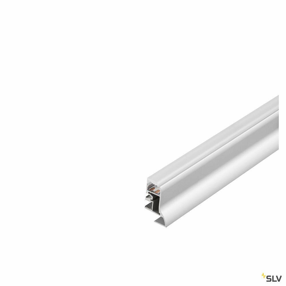 GLENOS, Fußleisten-Profil, aluminium eloxiert, 1 m, mit semi-transparenter Acrylabdeckung