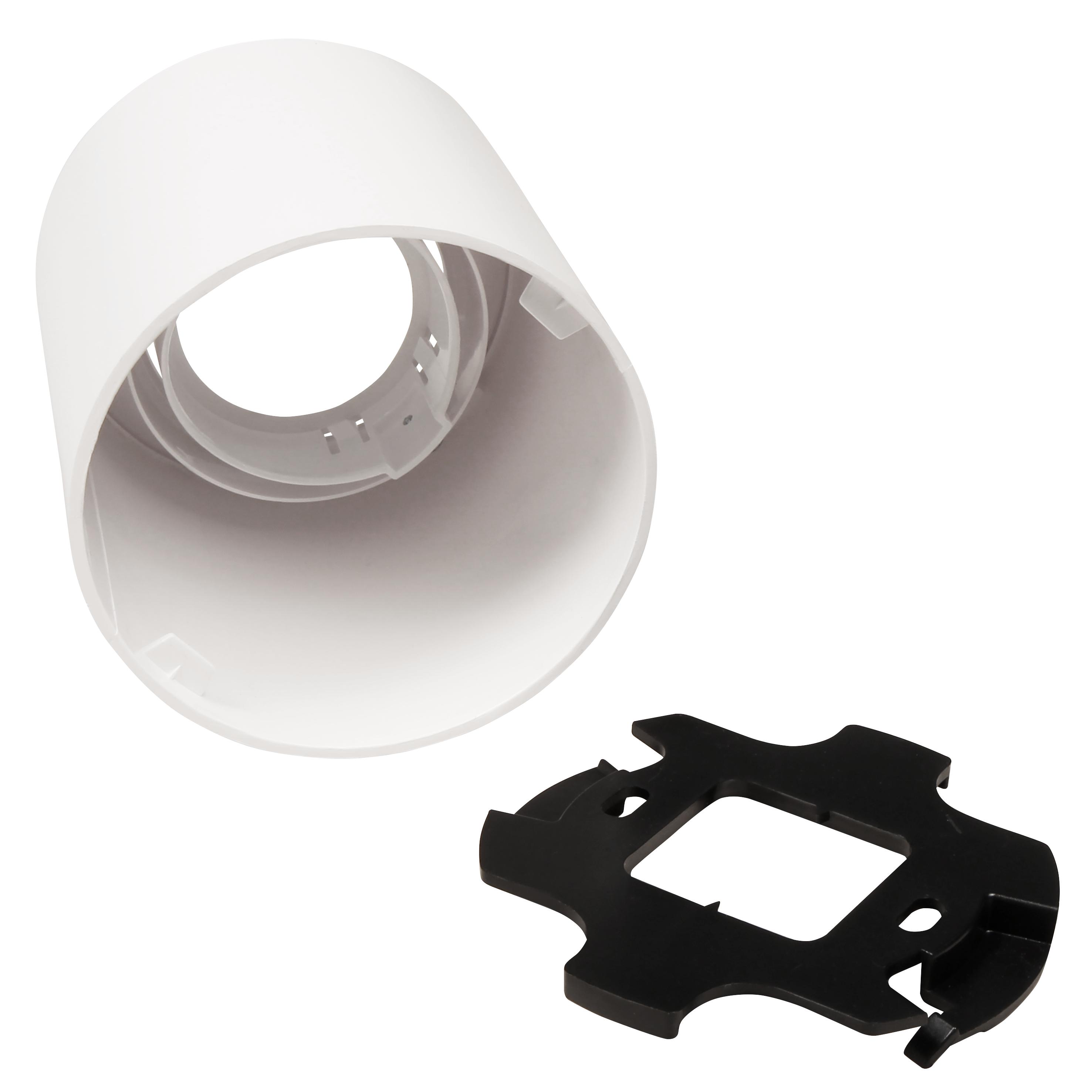 Aufbaurahmen McShine ''DL-950'' rund, Ø93x100mm, schwenkbar, weiß
