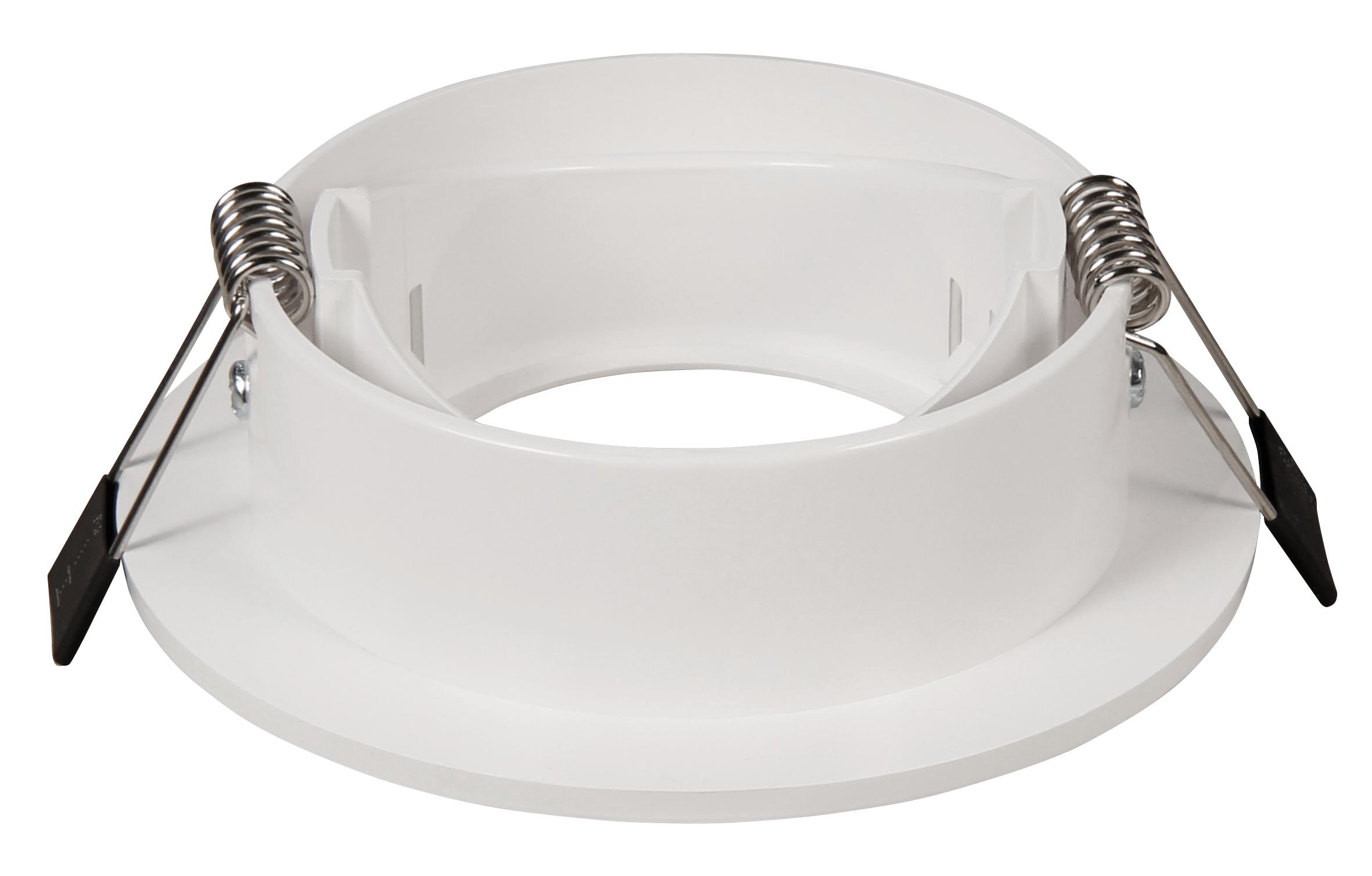 Einbaurahmen McShine ''DL-475'' rund, Ø90mm, schwenkbar, weiß