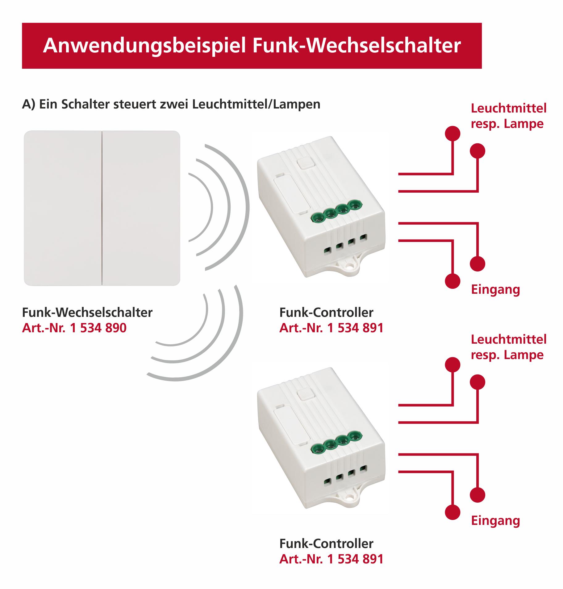 Funk Controller McPower, bis 160m, max. 1.100W, 5A, Wifi, App, Alexa kompatibel