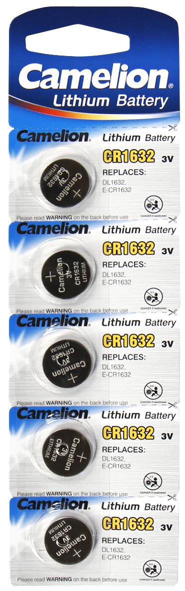 Knopfzelle CAMELION, CR1632 3,0V, Lithium, 5er-Blister